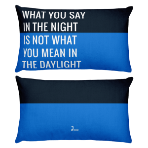 What You Say In The Night Throw Pillow joellemctigue.com